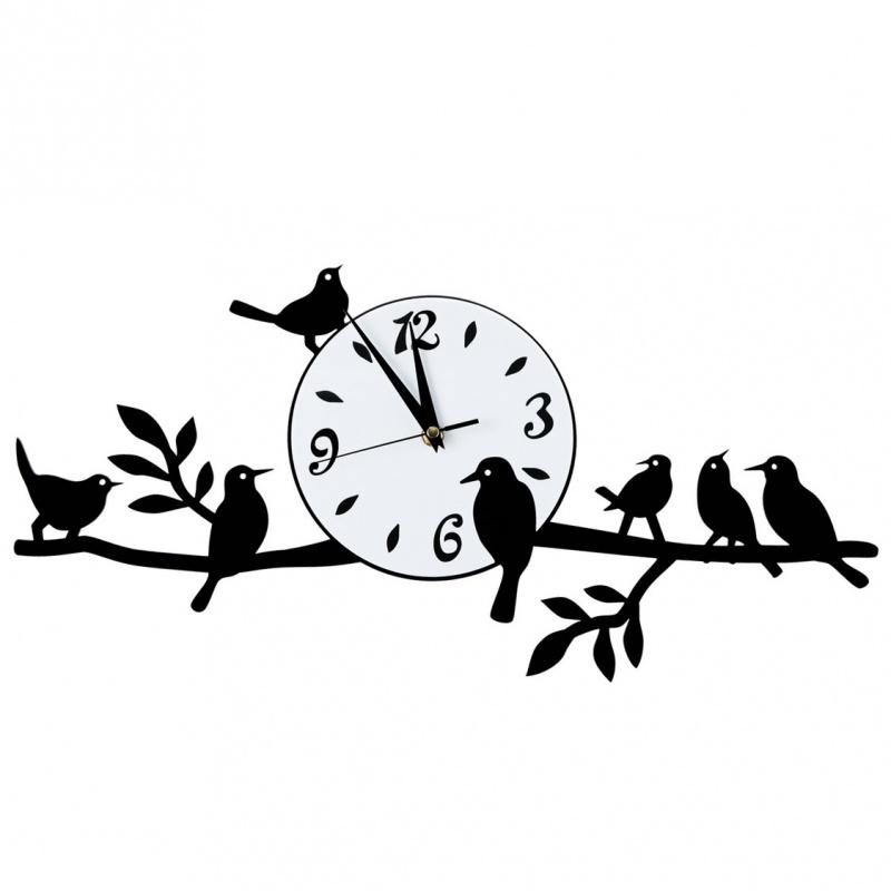 часы птицы на ветвях