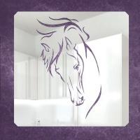 Зеркальное пано Лошадь большое (на заказ)