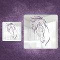 Фотографии Зеркальное пано Лошадь большое (на заказ)