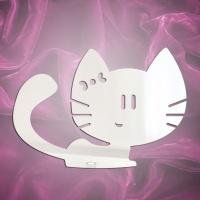 Магнит зеркальный котенок