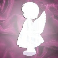 Магнит зеркальный Девочка-ангел