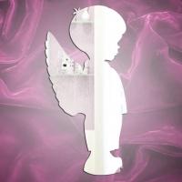 Магнит зеркальный Мальчик-ангел