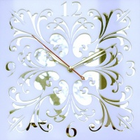 Часы Ажур белый (образец)
