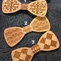 Фотографии Деревянный галстук-бабочка